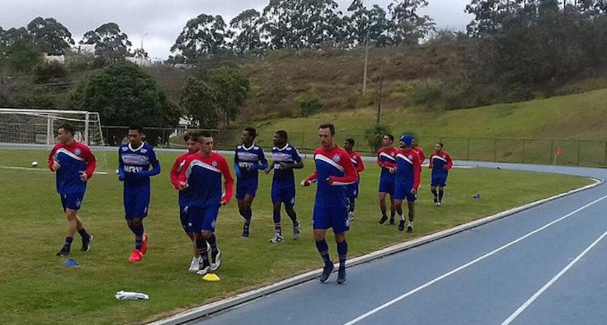 Elenco do Bahia treinou na manhã desta quarta-feira em Juiz de Fora (Foto: Divulgação/E.C. Bahia)