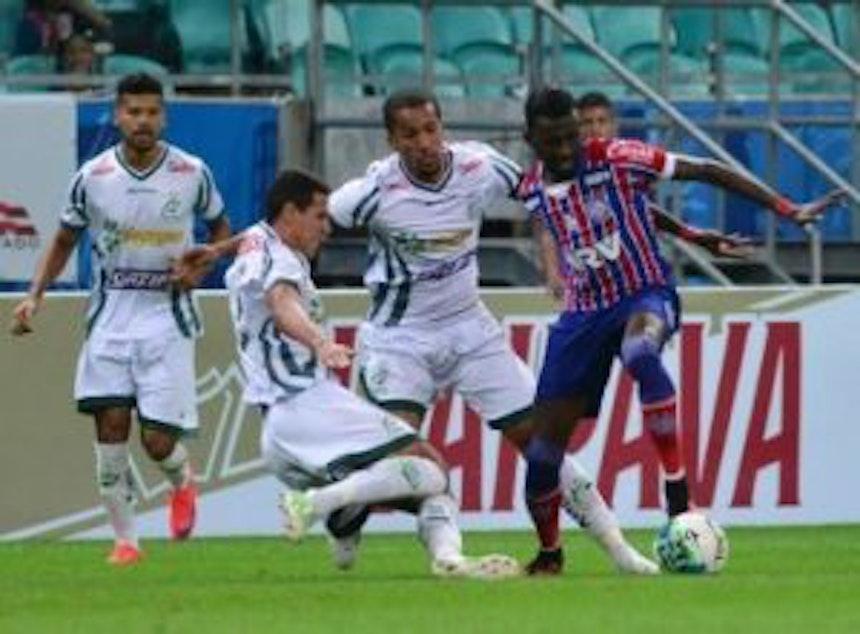 O atacante Allano estreou pelo Bahia no jogo contra o Luverdense (Foto: Max Haack / Ag Haack / Bahia Notícias)