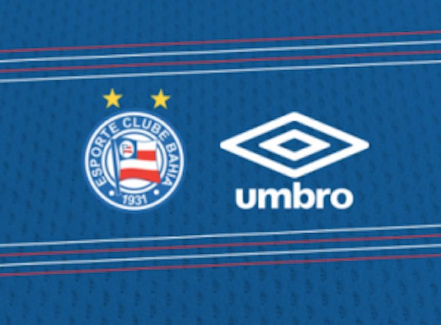 O Bahia usará uniformes fabricados pela Umbro a partir do jogo contra o Bragantino