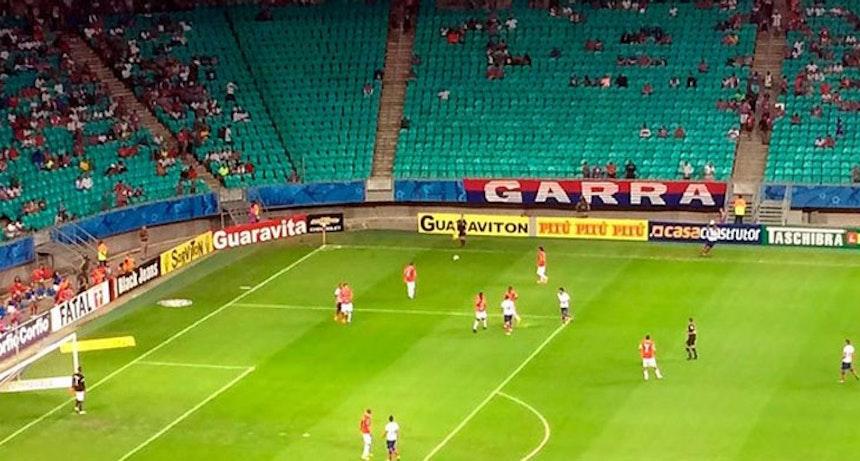 Bahia foi derrotado pelo Vila Nova na noite de terça-feira, na Arena Fonte Nova (Foto: Thiago Pereira)