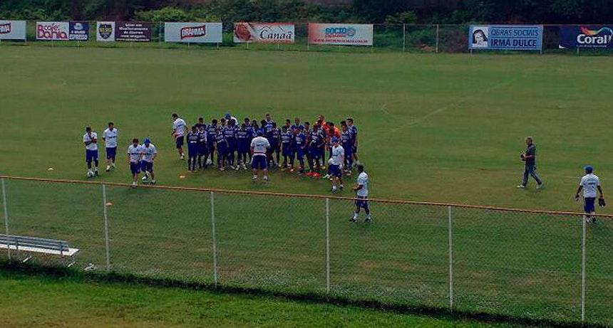 Depois de período em Porto Seguro, elenco voltou a treinar no Fazendão nesta quarta-feira (Foto: Thiago Pereira)