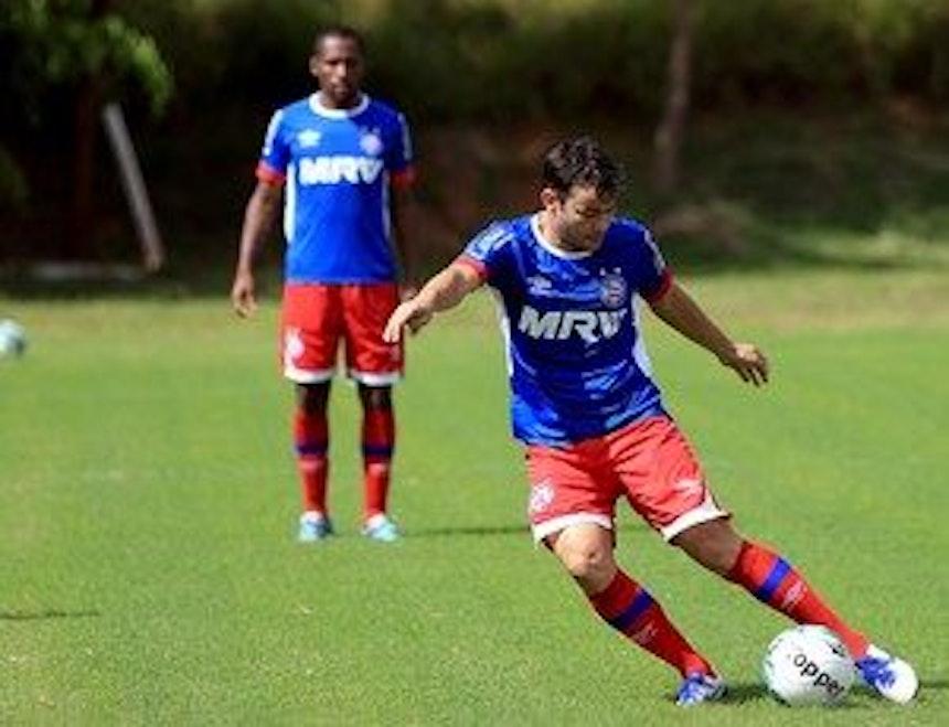 Renato Cajá em treino do Bahia