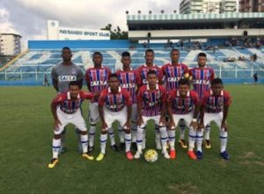 Equipe sub-20 do Bahia venceu o Paysandu em Belém (Foto: Divulgação / EC Bahia)