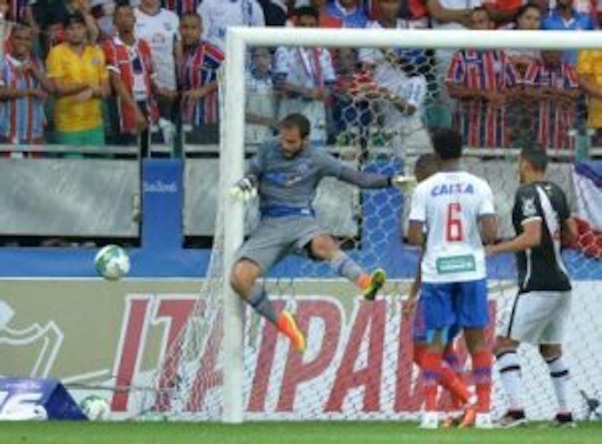 O goleiro Muriel elogiou o time após vitória importante contra o Vasco (Foto: Max Haack/Agência Haack/Bahia Notícias)