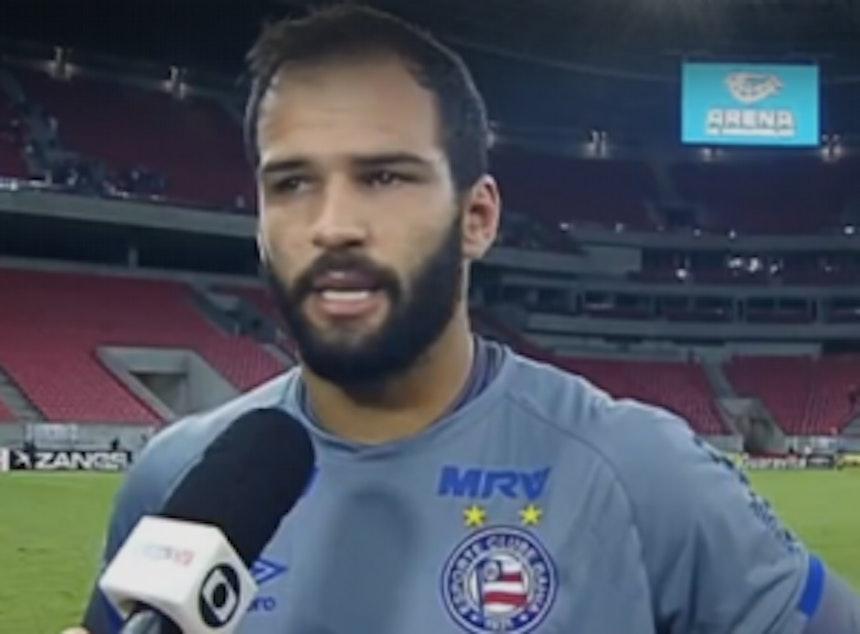 Goleiro Muriel dá entrevista após o jogo