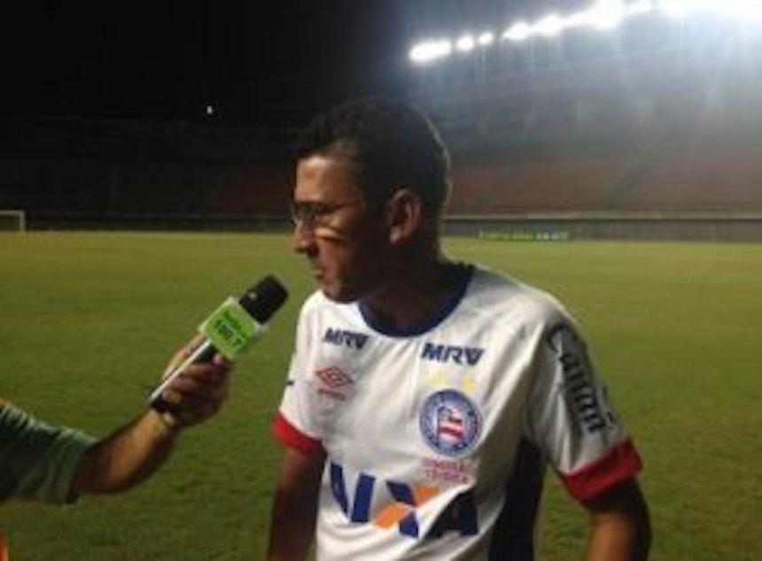 Técnico Aroldo Moreira dá entrevista após empate do Bahia Sub-20 (Foto: Ulisses Gama / Bahia Notícias)