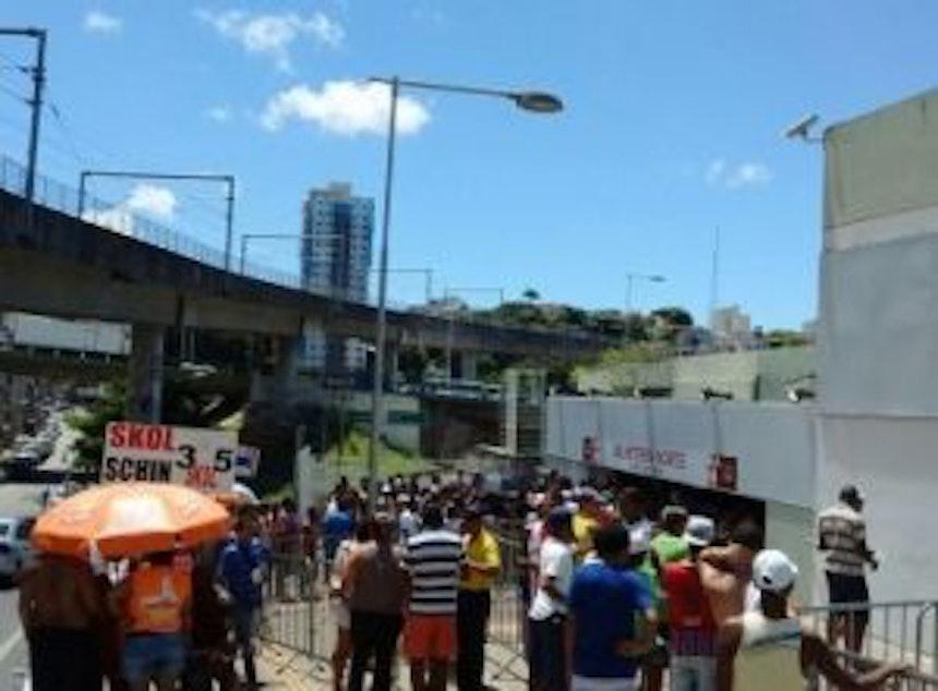 Bilheteria da Arena Fonte Nova (Foto: Ulisses Gama / Bahia Notícias)