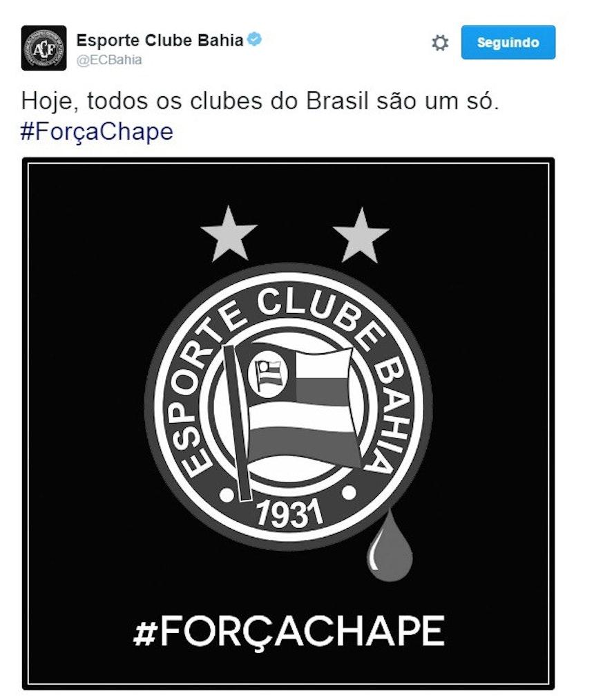 Bahia se posicionou através de sua conta nas redes sociais (Foto: Reprodução)