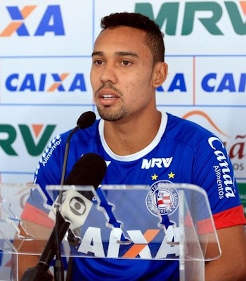 Edigar Junio, atacante do Bahia (Foto: Felipe Oliveira / Divulgação / E.C. Bahia)