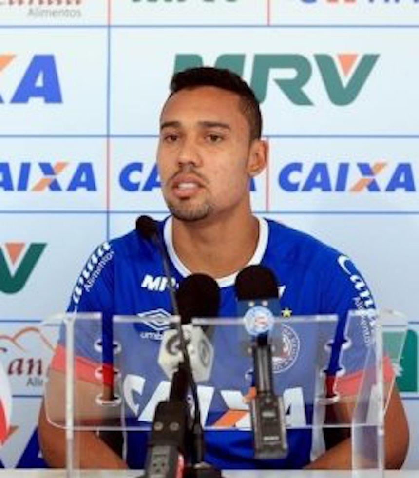 Edigar Junio confia no acesso tricolor para a Série A (Foto: Felipe Oliveira/EC Bahia/Divulgação)