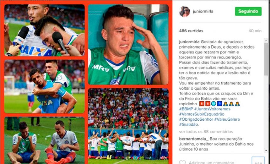 Mensagem Juninho Instagram