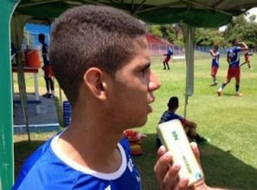 Kaynan, meia-atacante do Bahia Sub-20 (Foto: Divulgação)