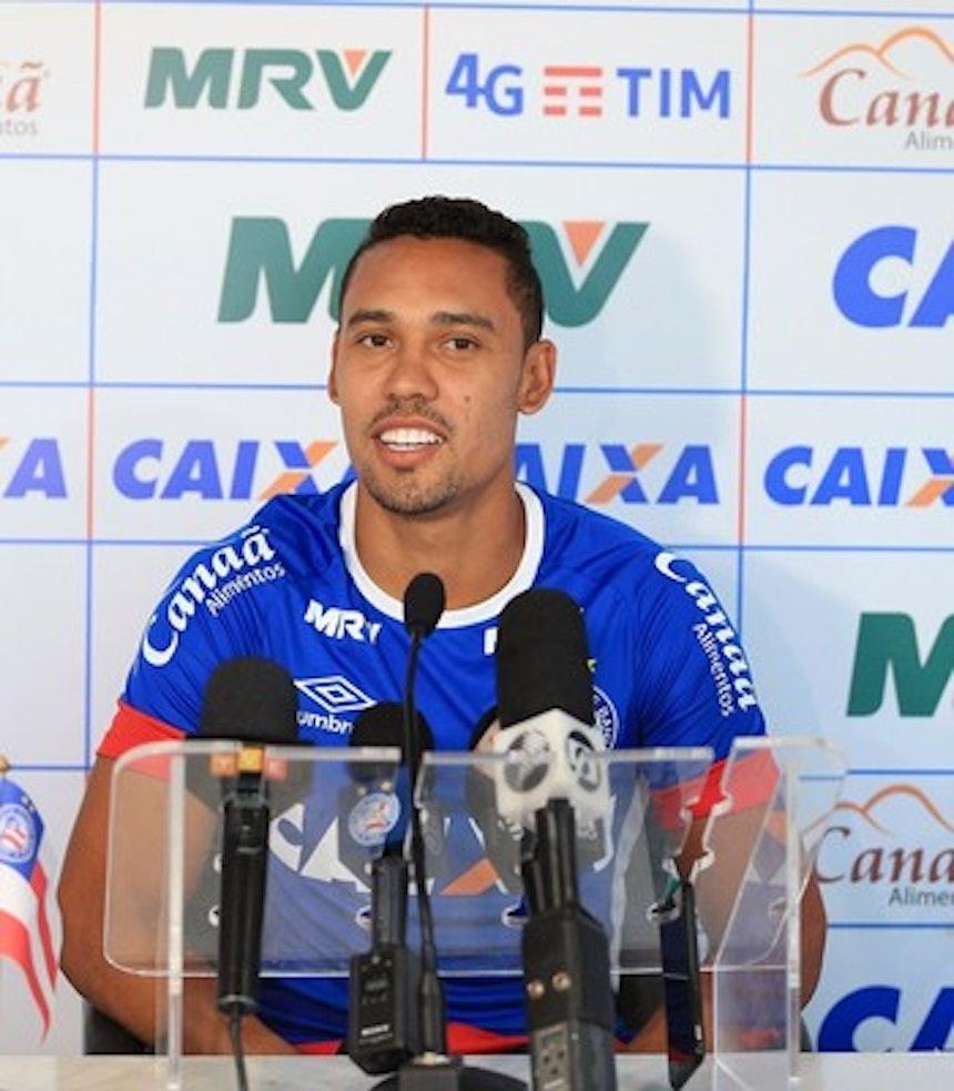 Edigar Junio projeta mais gols em 2017 (Foto: Felipe Oliveira / divulgação / EC Bahia)