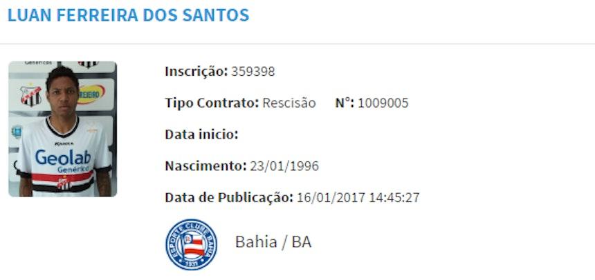 Sem acordo para renovação, Luan deixa o Bahia