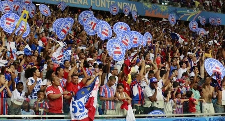 Torcida do Bahia esgotou os ingressos disponíveis para a decisão (Foto: Felipe Oliveira / Divulgação / E.C Bahia)