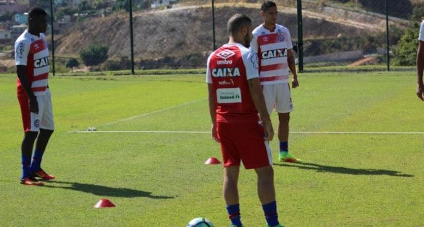 Elenco do Bahia treinou em Belo Horizonte (Foto: Felipe Santana / EC Bahia)