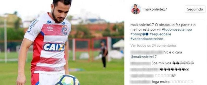 Maikon Leite em post no Instagram (Foto: Reprodução/Instagram)