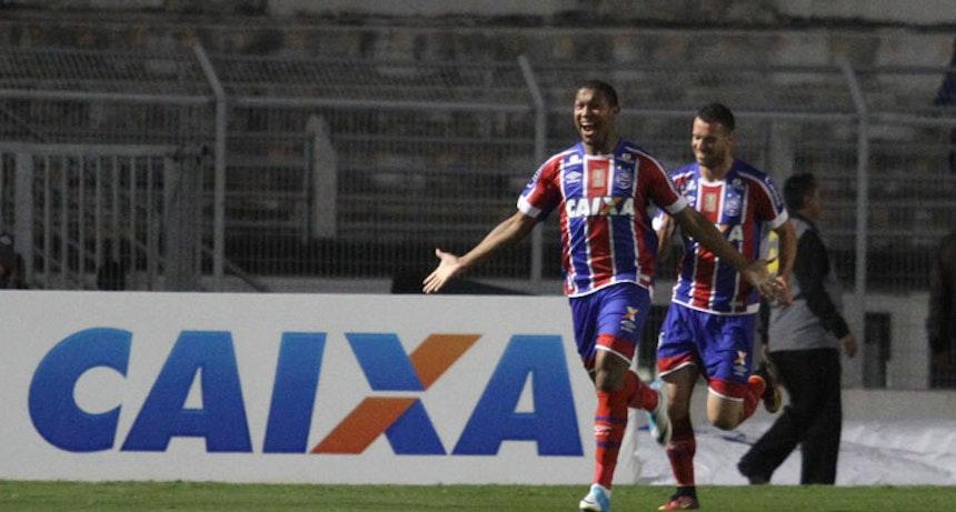 Rodrigão marcou dois gols na estreia como titular no Bahia (Foto: Estadão Conteúdo)