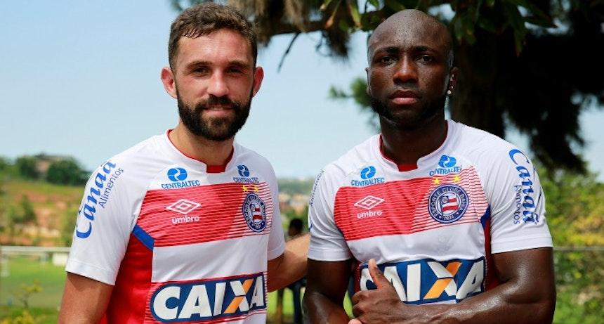 Allione e Armero treinaram nesta manhã (Foto: Felipe Oliveira / Divulgação / EC Bahia)