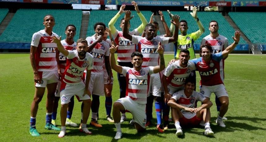 Preto Casagrande tem apoio dos jogadores (Foto: Felipe Oliveira/Divulgação/EC Bahia)