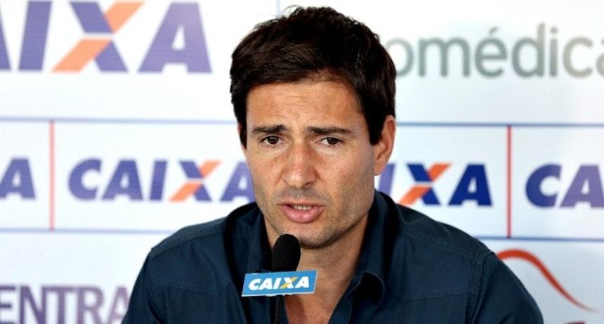 Diego Cerri concede entrevista coletiva (Foto: Felipe Oliveira/Divulgação/EC Bahia)