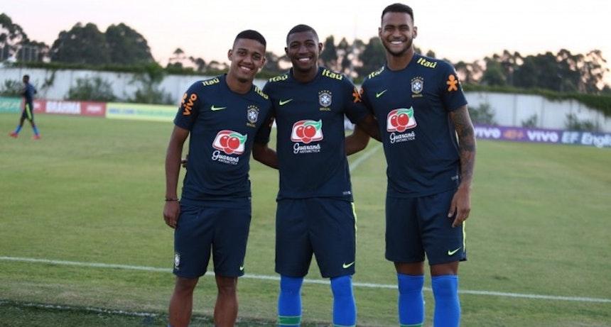 Júnior Brumado na Seleção Brasileira sub-20 (Foto: Lesley Ribeiro/CBF)