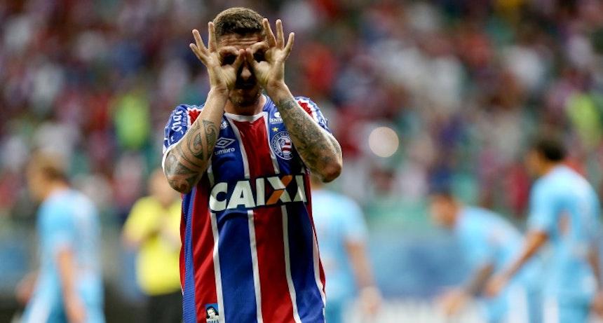 Zé Rafael comemora gol na Arena Fonte Nova (Foto: Felipe Oliveira/Divulgação/EC Bahia)