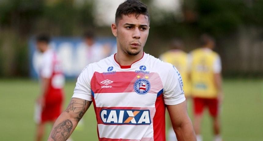 João Pedro treina pelo Bahia no Fazendão (Foto: Felipe Oliveira/Divulgação/EC Bahia)