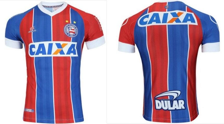 Novo uniforme tricolor do Bahia (Foto: Reprodução)