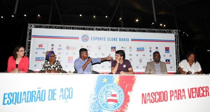 Bahia promove lançamento do Relatório Anual da Discriminação Racial no Futebol (Foto: Felipe Oliveira/Divulgação/EC Bahia)