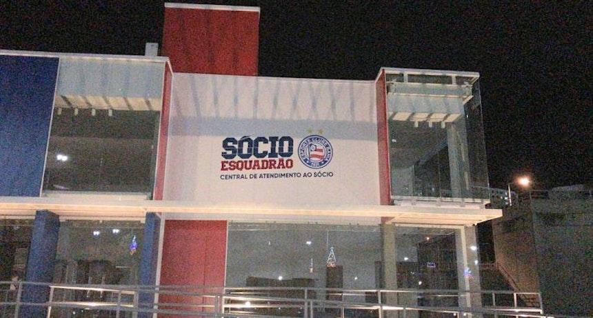 Loja do Bahia sendo construída na Arena Fonte Nova (Foto: Divulgação/EC Bahia)