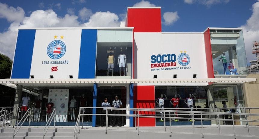 Loja do Esquadrão na Arena Fonte Nova (Foto: Felipe Oliveira/Divulgação/EC Bahia)