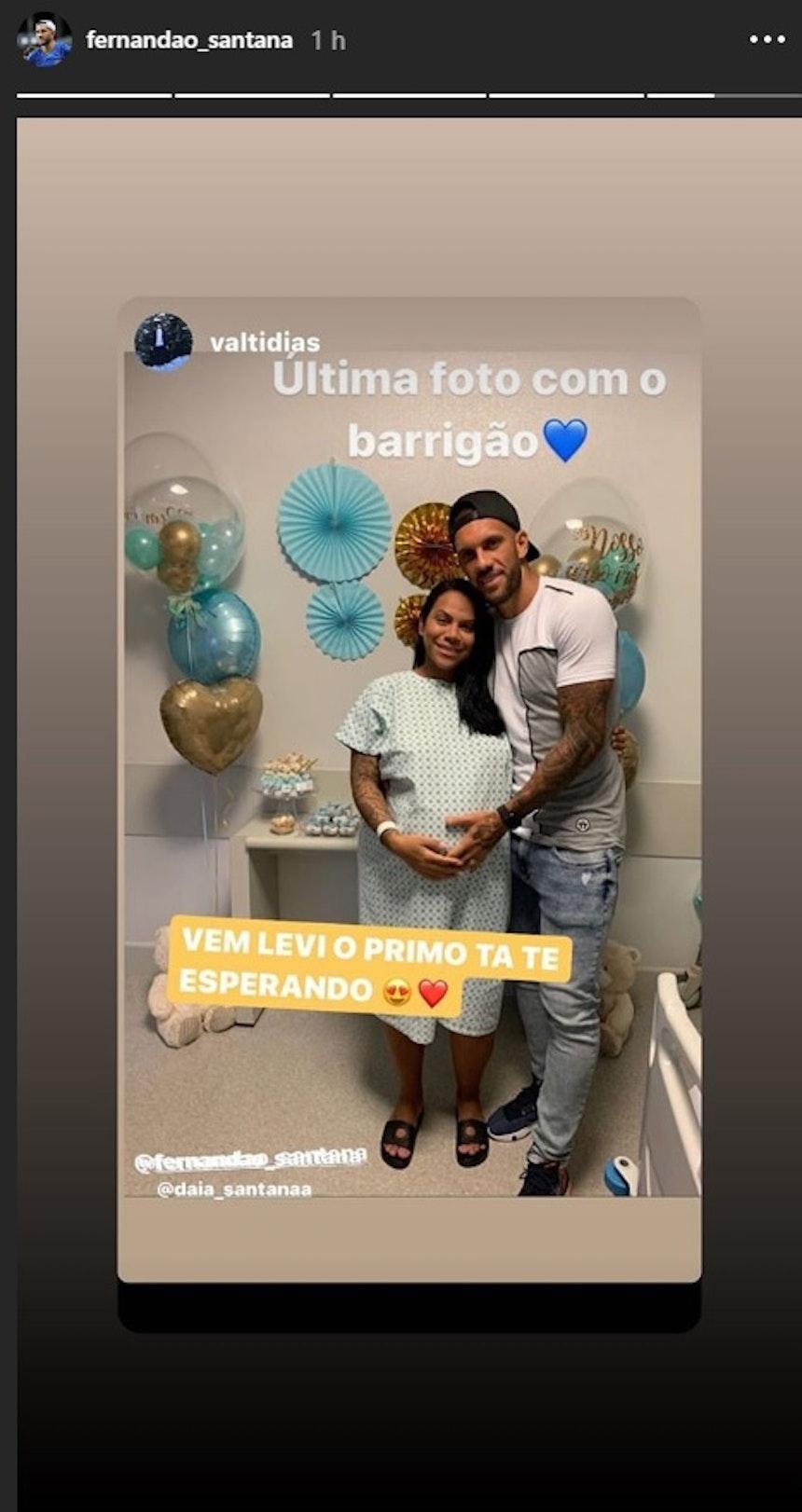 Fernandão postou foto do hospital -