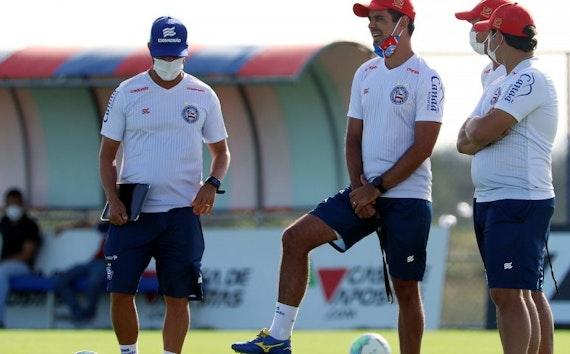 Bahia encerra trabalhos para enfrentar o Athletico amanhã na Arena